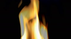 Stock Video Footage of Flame on a black background