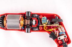 Disassembled Drill Stock Photos
