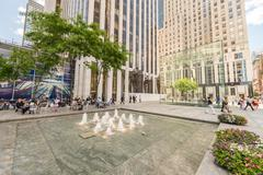 NEW YORK CITY - JUNE 12, 2013: Exterior view of Apple Store on the Fifth Aven Stock Photos