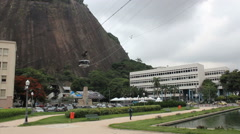 The cable car to sugar loaf in Rio de Janeiro. Brazil, bondinho do Pao de Acucar Stock Footage