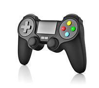 Gamepad joypad for video game console isolated - stock illustration