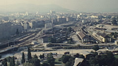 Vienna 1978: panorama from the Prater Giant Wheel Stock Footage