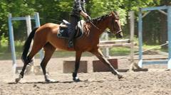 Rider on horseback, slow motion 6 Stock Footage