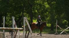 Rider on horseback, slow motion 5 Stock Footage