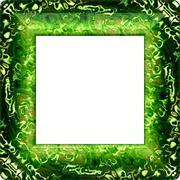 Green fractal decorative frame Stock Illustration