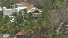 Beach resort on Contadora Island, Panama Stock Footage