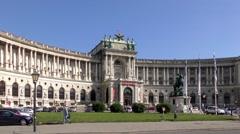 4K footage of the Heldenplatz (Heroes Square) in Vienna, Austria Stock Footage