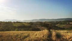 Fields in the countryside of kosovo Stock Footage