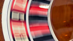 Casino: Spinning Roulette Wheel Comes To Rest Stock Footage