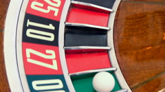 Casino: Spinning Roulette Wheel Comes To Rest - stock footage