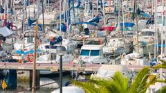 Olimpic Port yachts Barcelona 4k Stock Footage