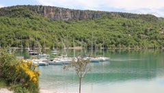 Lake in Gorges du Verdon, South of France Stock Footage