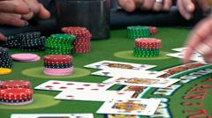 Casino: Gone Bust In Blackjack With Twenty Two Stock Footage