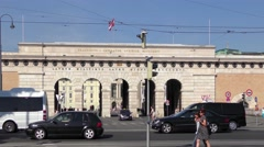 4K footage of the Auseres Burgtor in Vienna, Austria Stock Footage