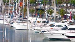 Barcelona port 4K Stock Footage