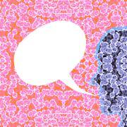 Cellular profile communication bubble - stock illustration