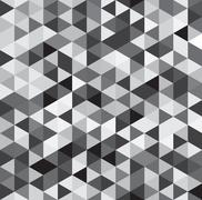 Seamless Diamond Shape Stud Pattern Background - Black Gray White Stock Illustration