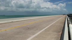 Scenic Overseas Highway (US Route1) in the Florida Keys. Stock Footage