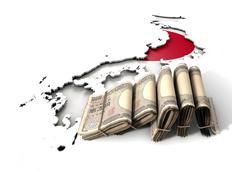 Japanese Map And Folded Notes Stock Illustration