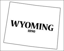 Stock Illustration of Wyoming State and Date