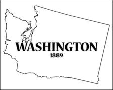 Washington State and Date - stock illustration
