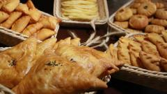 Different pies and patties Stock Footage