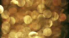 Abstract Gold Active Bokeh Pattern Background Stock Footage