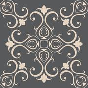 Seamless wallpapers in the style of Baroque . Can be used for backgrounds and Stock Illustration