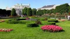 4K footage of the Volksgarten in Vienna, Austria Stock Footage