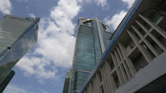 The Global Bank building in downtown Panama City Stock Footage
