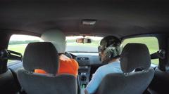 Drifting car Stock Footage