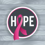 Breast Cancer Awareness Hope Theme Illustration - stock illustration
