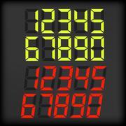 Digital Numbers - stock illustration