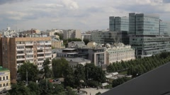 Moscow windows, the noise of the city Stock Footage