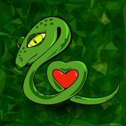 Snake and Heart Stock Illustration