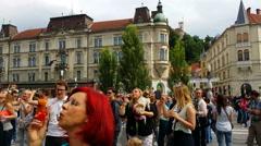 Soap Bubble parade, Ljubljana, Slovenia, 1080p - stock footage