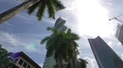 The F&F Tower near the Soho Mall in Panama Stock Footage