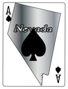 Nevada Ace Of Spades - stock illustration