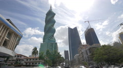 The F&F Tower and Soho Mall in Panama City - stock footage
