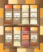 Spicy Spice Rack - stock illustration