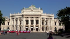4K footage of the Burgtheater in Vienna, Austria Stock Footage