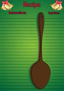 Christmas Recipe Page Big Spoon - stock illustration