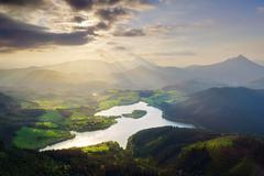 Urkulu reservoir in Basque Country Stock Photos