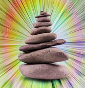 Balanced Stone Tower - stock photo