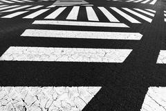 several crosswalk - stock photo