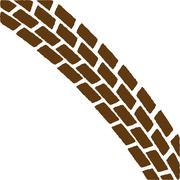 Brown Treadmark Arch Stock Illustration