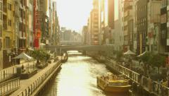 Doutombori Bridge Osaka Japan angle 2 2.5K Stock Footage