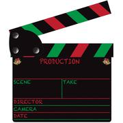 Christmas Clapper Board Blank Stock Illustration