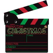 Christmas Clapper Board Stock Illustration