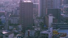 Morning street Osaka Time-lapse 2.5K Stock Footage